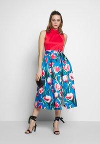 Closet - COLLAR FULL SKIRT DRESS - Vestito elegante - red - 1