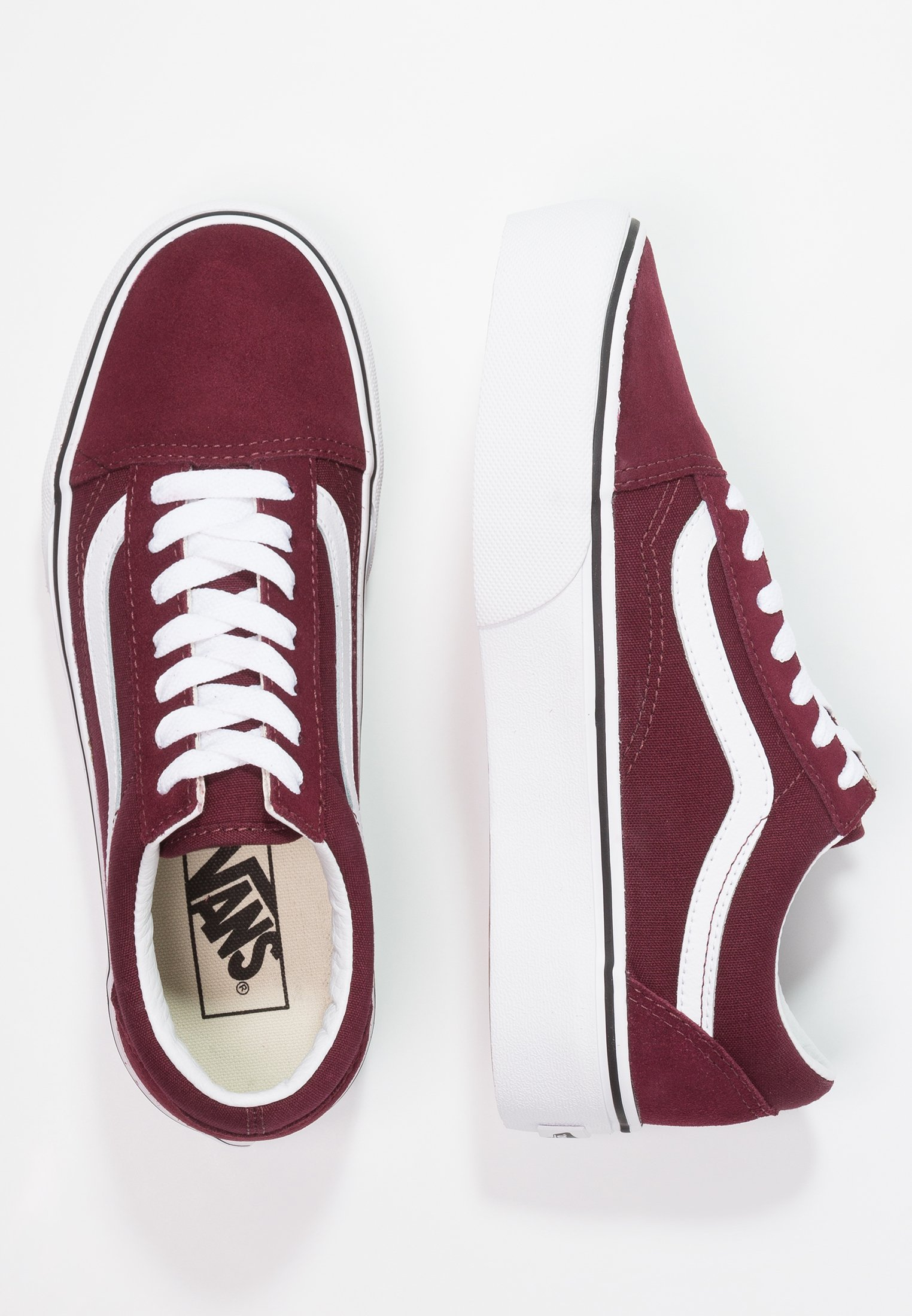 Vans Old Skool Platform - Sneaker Low Port Royale/true White/bordeaux