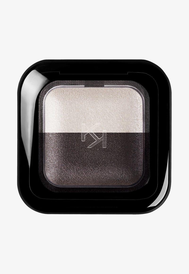 KIKO Milano - BRIGHT DUO EYESHADOW - Eye shadow - 22 pearly white/satin graphite