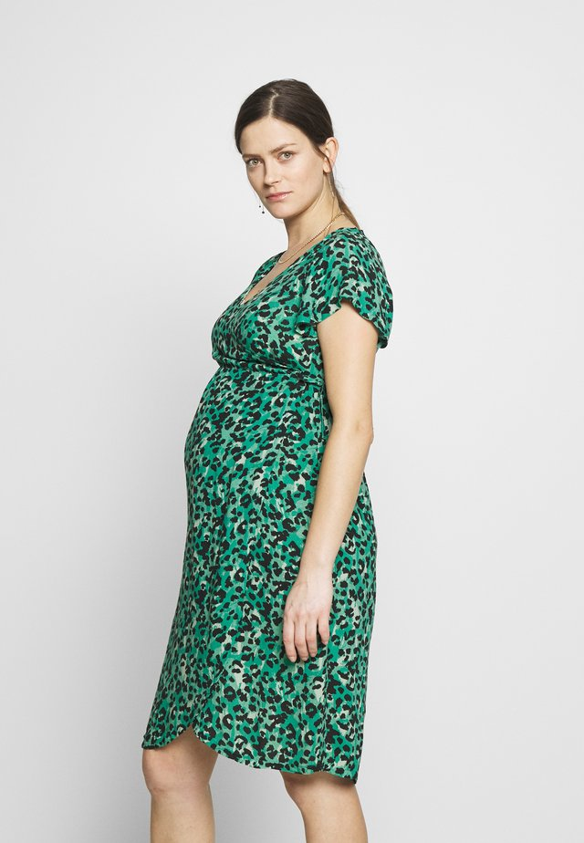 DRESS SEA LEOPARD - Kjole - sea green