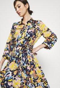 Pieces - PCROSITA 3/4 MIDI DRESS - Shirt dress - navy blazer/misty rose - 3