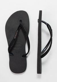 Havaianas - SLIM GLITTER - T-bar sandals - black - 3