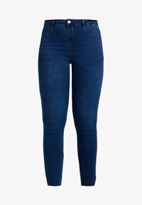 Missguided Plus - LAWLESS HIGHWAISTED SUPERSOFT - Jeansy Skinny Fit - blue - 3