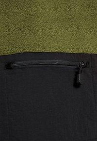 The North Face - STEEP TECH JACKET - Fleecová mikina - burnt olive green/black/evergreen - 3