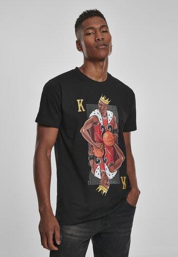 KING  - Print T-shirt - black