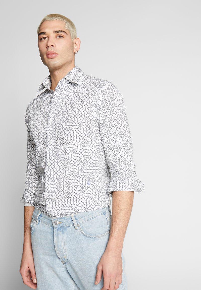 G-Star - CORE SUPER SLIM SHIRT L\S - Shirt - milk/imperial blue
