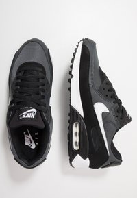 Nike Sportswear - AIR MAX 90 - Sneakers - black/white/metallic silver - 1