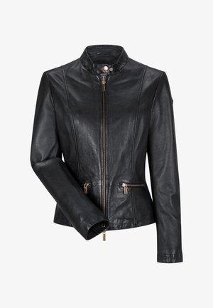 ETTA - Leather jacket - schwarz