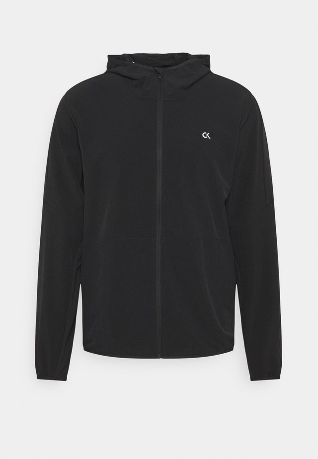 MIX FABRIC WINDJACKET - Sportovní bunda - black