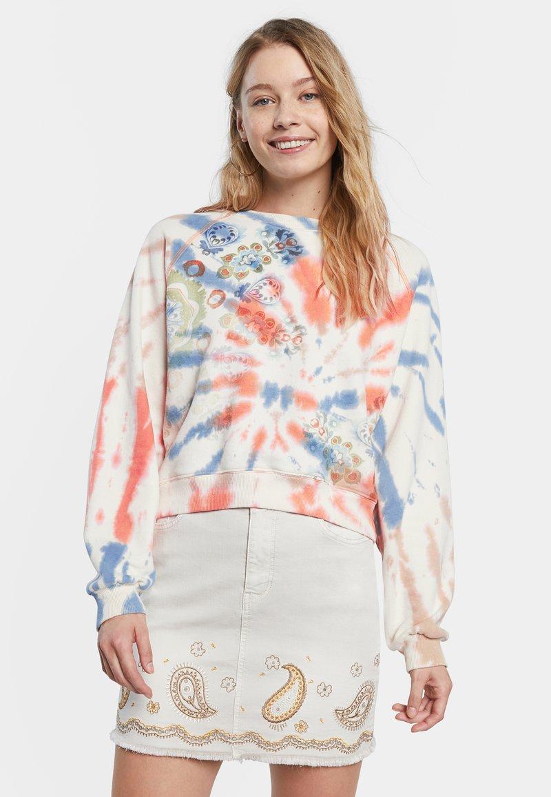 Desigual - DYE MANDALA - Sweatshirt - white