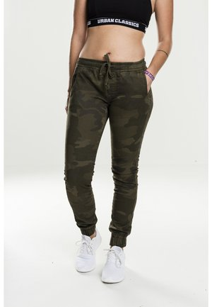 LADIES CAMO PANTS - Pantaloni - olive camo