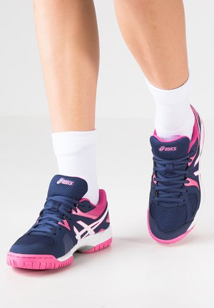 GEL-COURT HUNTER 3 - Volleyballsko - indigo blue/white/azalea pink