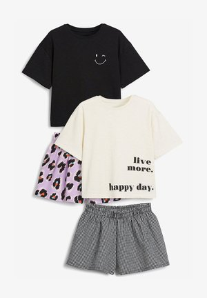 2 PACK ANIMAL - Pyjamas - black/white/purple