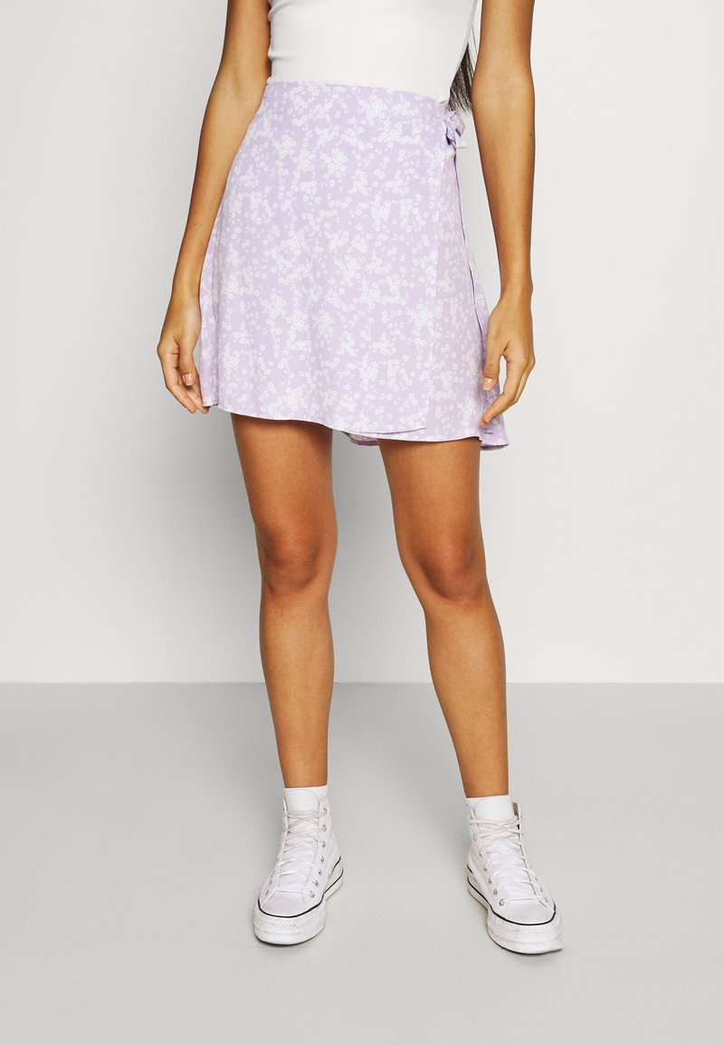 Cotton On - DREW WRAP SKIRT - A-line skirt - lena ditsy powder lilac