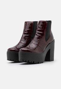 Topshop - BRIA CHELSEA UNIT - Kotníková obuv na vysokém podpatku - burgundy - 2
