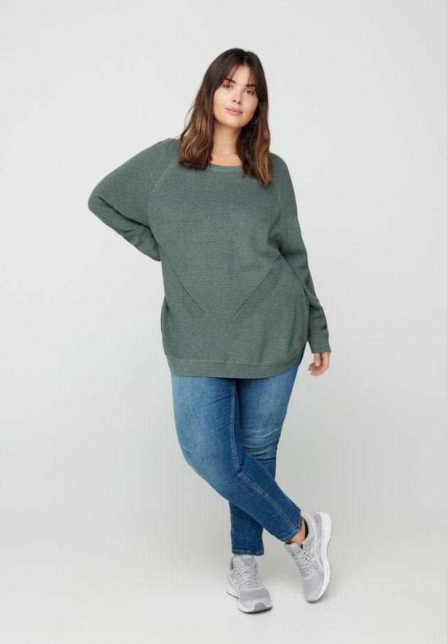 Jumper - dark green