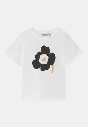 SOIDA UNIKKO - T-shirt print - white/black/beige