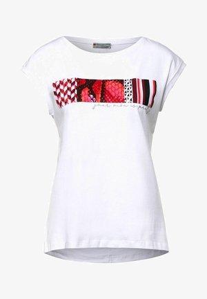 MIT PARTPRINT - Print T-shirt - weiß