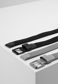 Urban Classics - ELASTIC BELT 2 PACK - Flätat skärp - black/grey - 2