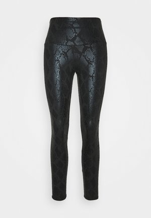 FOIL MIDI - Tights - black