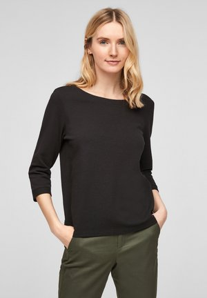 3/4-MOUWEN - Long sleeved top - black
