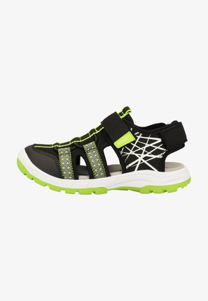 Walking sandals - black/green
