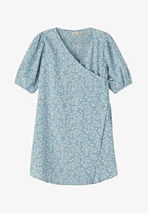 BLUMENPRINT WICKEL - Day dress - dusty blue