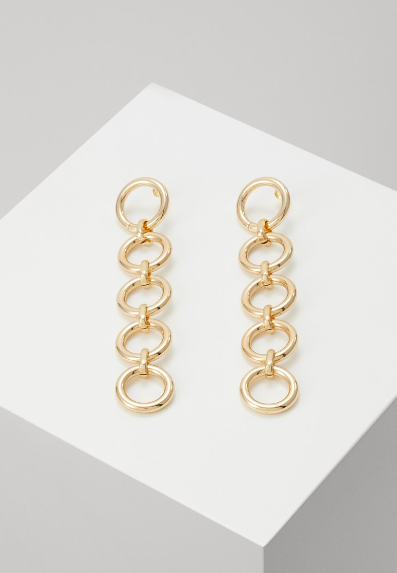 Topshop - CIRCLE - Earrings - gold-coloured