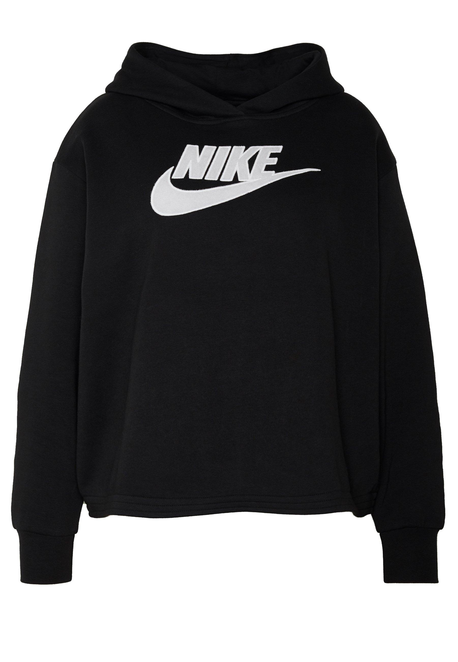 Nike Sportswear PLUS SIZE ICON CLASH PATCHES FLEECE HOODIE - Hoodie - black