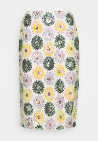 SKIRT SEQUIN DAISY MEDALLION - Pencil skirt - pink/teal/multi