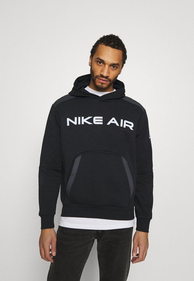 Nike Sportswear - AIR HOODIE - Hoodie - black/dark smoke grey/white