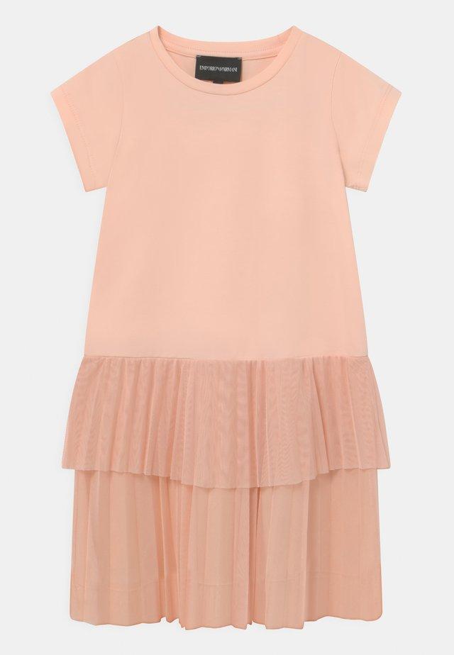 Žerzejové šaty - light pink