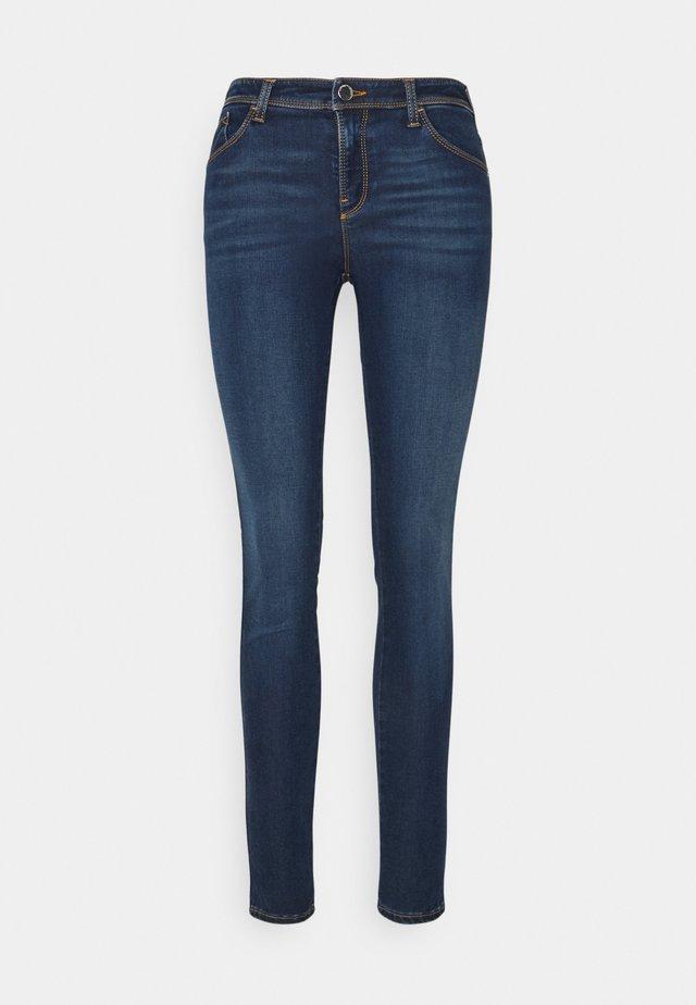 Skinny džíny - denim blu