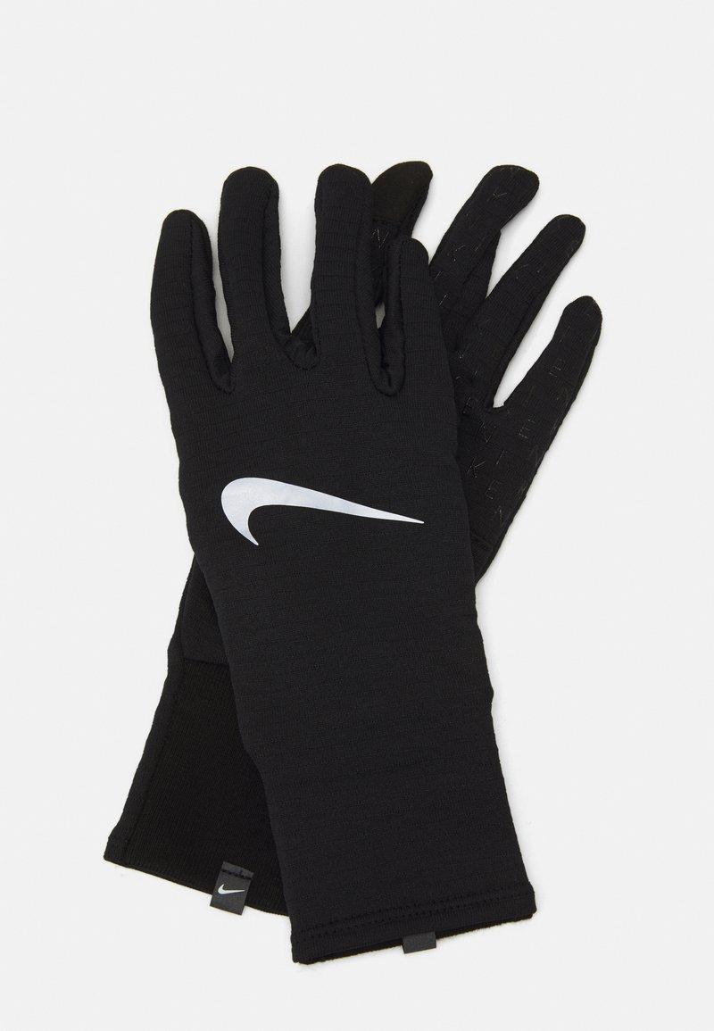 Nike Performance - WOMENS SPHERE RUNNING GLOVES  - Gloves - black/silver