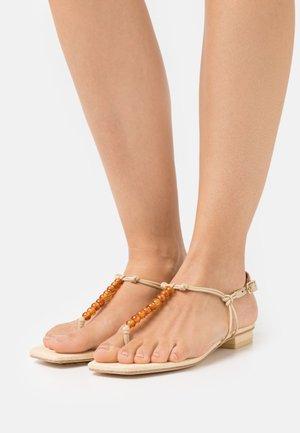 ARI  - T-bar sandals - tan