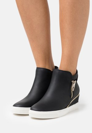MARZAN - Wedge Ankle Boots - open black