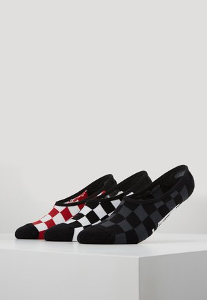 CLASSIC SUPER NO SHOW 3 PACK - Trainer socks - black/red/white