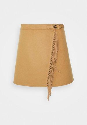 LUCIANA - Mini skirt - camel