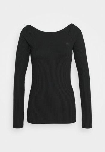 DEEP BACK T R WMN L\S - Long sleeved top - dark black