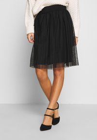 Even&Odd Petite - A-snit nederdel/ A-formede nederdele - black/black - 0