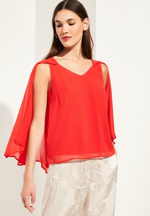 MIT CHIFFON-CAPE - Blouse - milky red