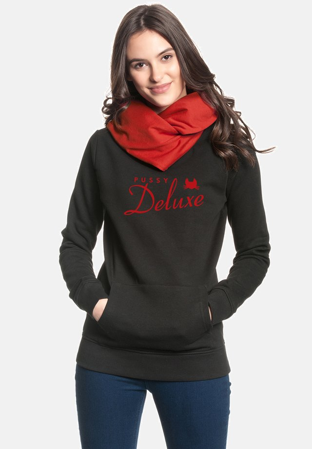Hoodie - schwarz rot