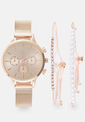 SET - Watch - rosegold-coloured