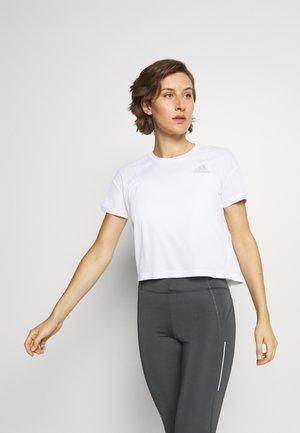 P.BLUE TEE - T-Shirt print - white/silver