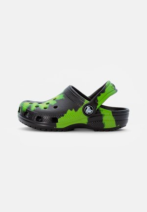 CLASSIC TIE DYE GRAPHIC CLOG - Mules - black/lime punch
