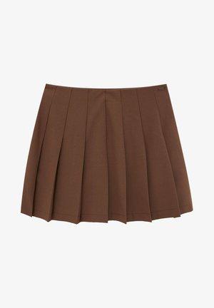 Plisovaná sukně - brown