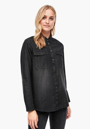 BLOUSE - Button-down blouse - dark grey