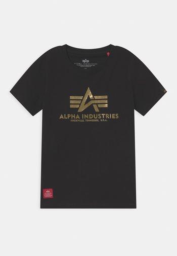 BASIC PRINT - Print T-shirt - black/yellow gold
