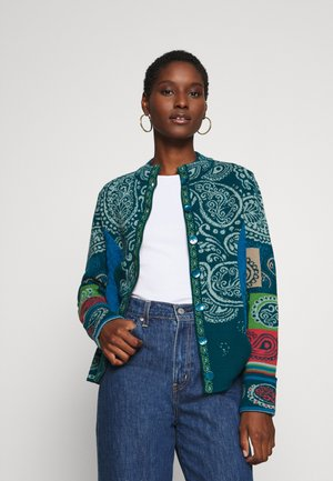JACKET EMBROIDERY - Cardigan - pacific