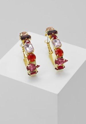ASIZA - Náušnice - gold-coloured/red